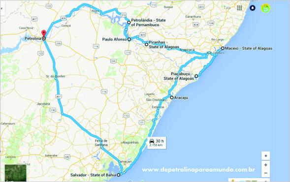 Viagem de carro pelo Nordeste