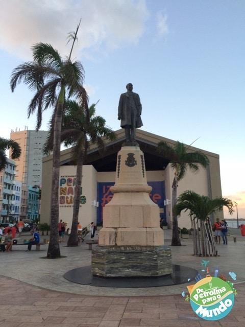 Praça do Marco Zero em Recife - PE
