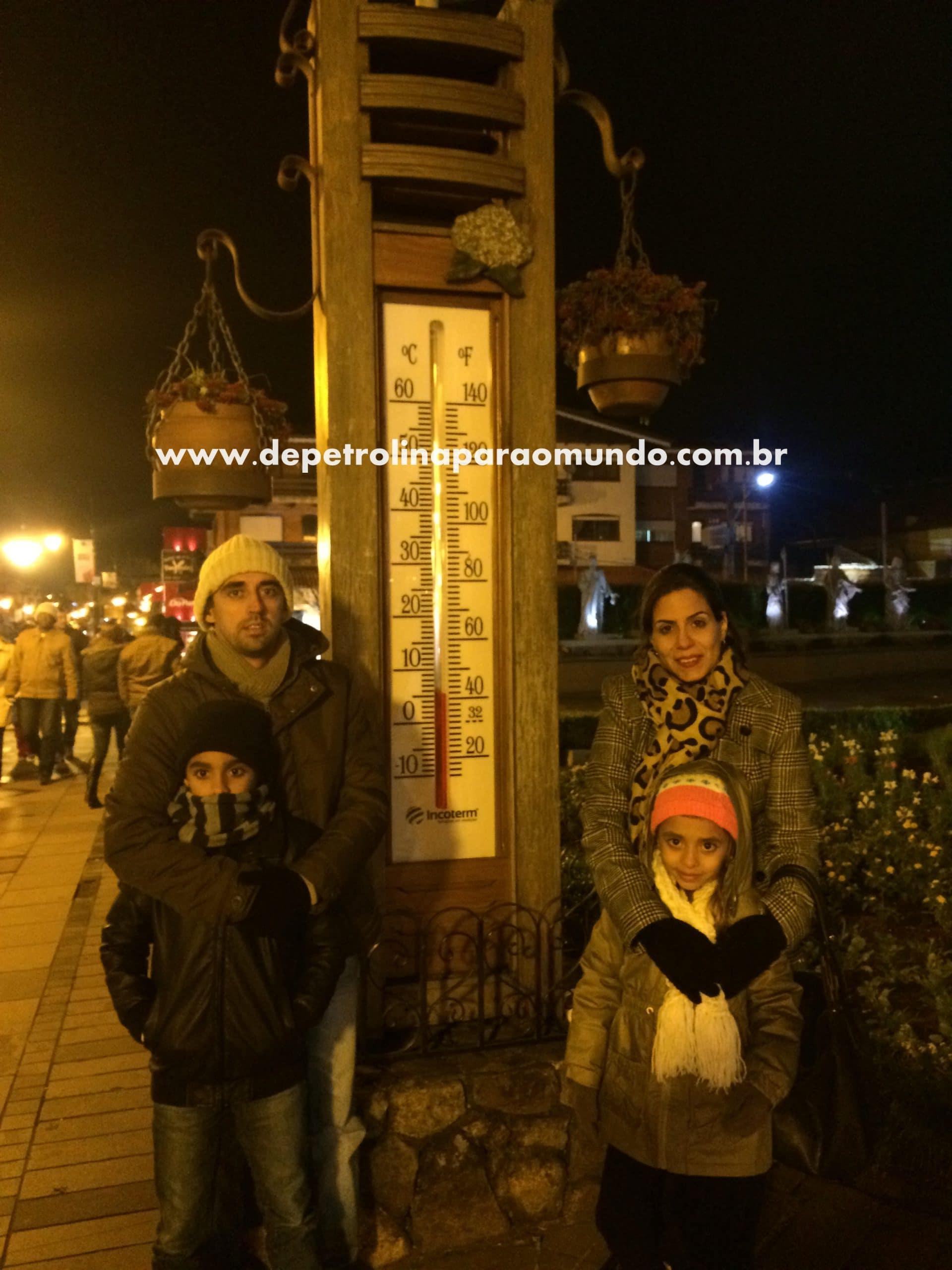 Relógio de temperatura em Gramado
