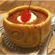 Sobremesa com bolo de rolo